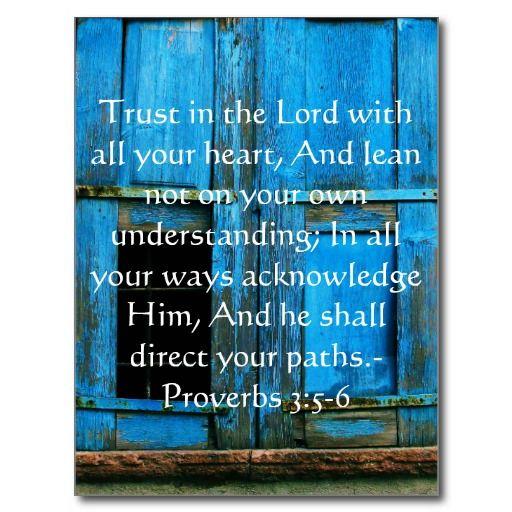 proverbs 3 v5-6 acknowledge him