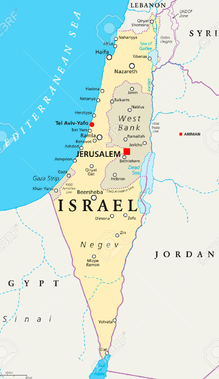 Modern-day Israel...this post provides some maps of the Holy Land and background on the region's history, politics, & geography to serve as the basis for the next few posts